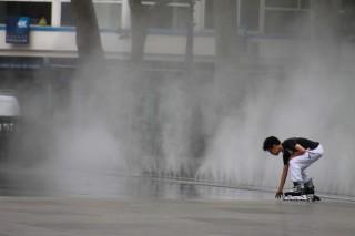 Miroir d'eau troublant (Place de la République)