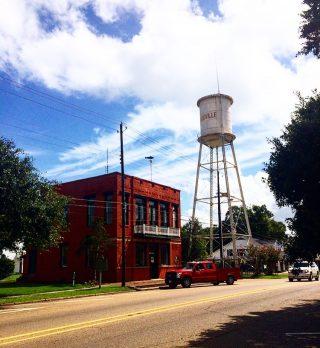 Cette photo à été prise avec mon portable, dans les rue d'un petit village de Louisiane.